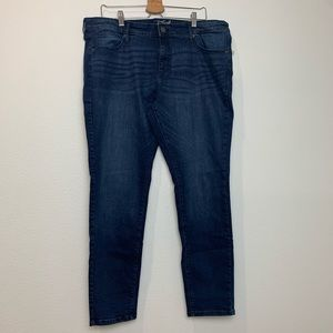 Women's dark blue skinny jeans